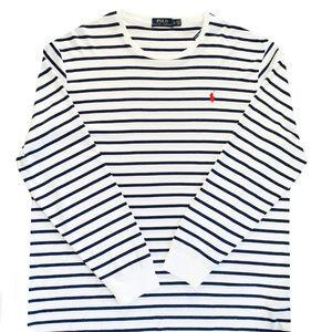 Ralph Lauren Mens Pony Stripe Longsleeve T Shirt